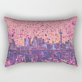 san antonio city skyline abstract 5 Rectangular Pillow