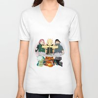 sasuke V-neck T-shirts featuring Team 7 On the Move by rendhy wahyu