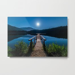 Bright Night Sky at British Columbia Metal Print