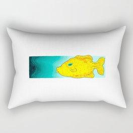 Yellow Fish (Babel Right) Rectangular Pillow