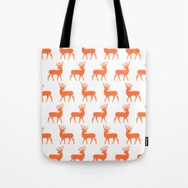 Mid Century Modern Deer Pattern Orange 3 Tote Bag