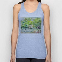 Krause Springs - historic Texas natural springs swimming hole Unisex Tank Top