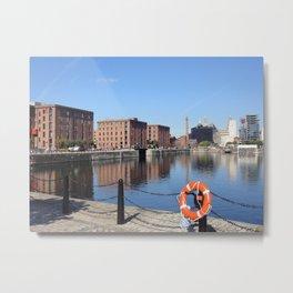 Albert Dock, Liverpool UK Metal Print