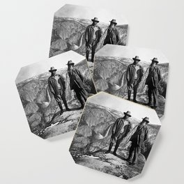 Teddy Roosevelt and John Muir - Glacier Point Yosemite Valley - 1903 Coaster