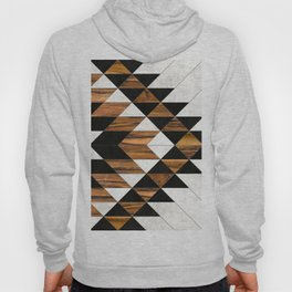 Urban Tribal Pattern No.9 - Aztec - Concrete and Wood Hoody