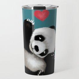 Panda Love (Color) Travel Mug