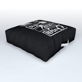 Eat Sleep Hockey Repeat - Ice Sport Puck Winter Outdoor Floor Cushion