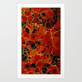Marbelous Copper and Gold Art Print