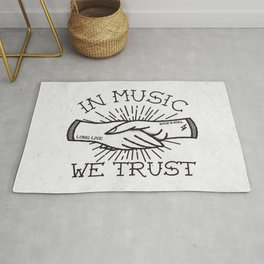 In Music We Trust Rug