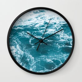 Tropic Beach Ocean Waves Wall Clock