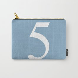number five sign on placid blue color background Carry-All Pouch