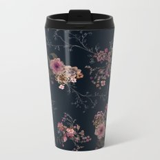 Japanese Boho Floral Metal Travel Mug