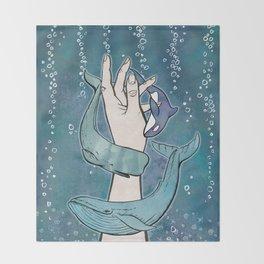 Poseidon's Whales Throw Blanket