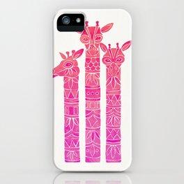Giraffes – Pink Ombré iPhone Case