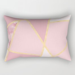 Pink texture and gold Rectangular Pillow