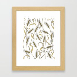 Art Nouveau - Scattered Wheat Framed Art Print