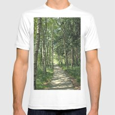 walk in the bog White MEDIUM Mens Fitted Tee