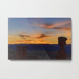 Sunrise 0988 Thor's_Hammer, Bryce Canyon National Park Metal Print
