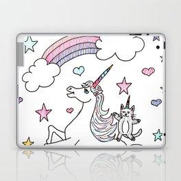 Unicorn & cat Laptop & iPad Skin
