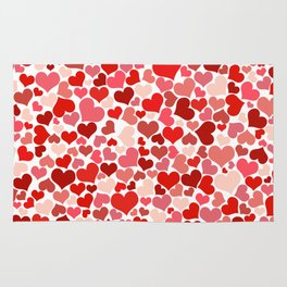 Loveheart Pattern - Romantic Love Patterns - Gift of Love Rug