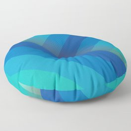 Stripes (blue/aqua) Floor Pillow