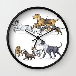 Trotting Terriers Wall Clock