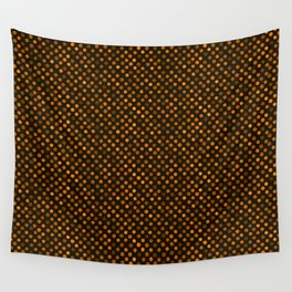 Retro Colored Dots Fabric Pumpkin Orange Wall Tapestry