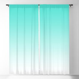 Simple Turquoise Ombre Blackout Curtain