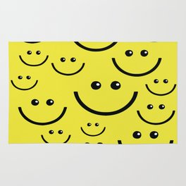 SMILEY FACE Abstract Art Rug