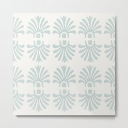 Fleurons in Pale Mint and Cream Metal Print