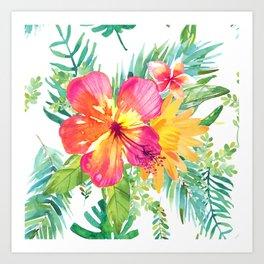 Floral paradise Art Print
