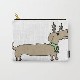 Dacshund Reindeer Carry-All Pouch