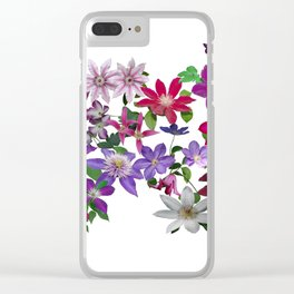 Cascade of Clematis Clear iPhone Case