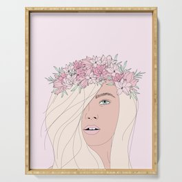 Pink Fairy Portrait Serving Tray