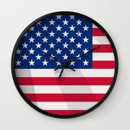 Waving US Flag Wall Clock