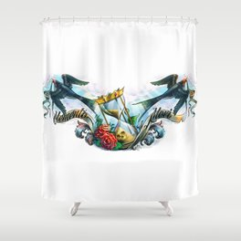 Memento Mori (latin: remember that you have to die) Shower Curtain