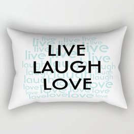Live Laugh Love Repeated Typography Rectangular Pillow