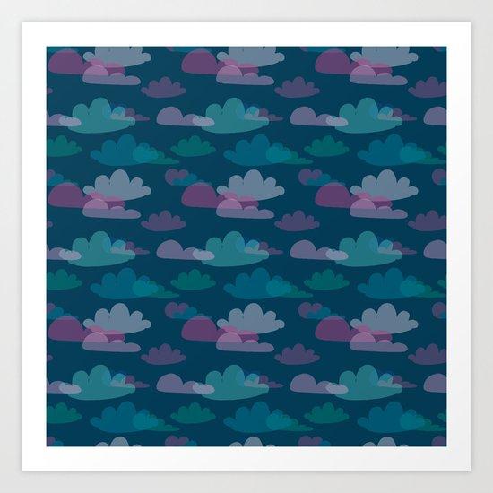 Clouds at Dusk Art Print