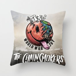 THE CHAINSMOKERS WORLD WAR JOY TOUR DATES 2019 TELUKBETUNG Throw Pillow