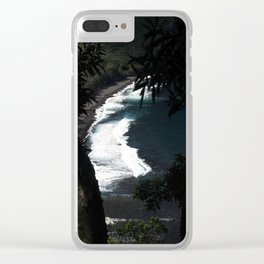 Black Sands of Hawaii Clear iPhone Case