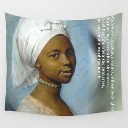 African Beauty Tote Wall Tapestry