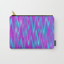 WAVY #1 (Purples, Violets & Turquoises) Carry-All Pouch