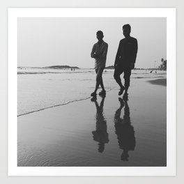 Enjoying the Beach Art Print