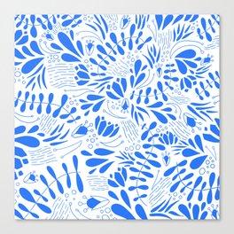 Flora in Blue Canvas Print