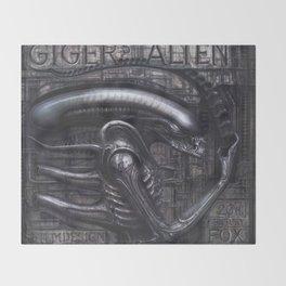 Alien Xenomorph Giger Throw Blanket