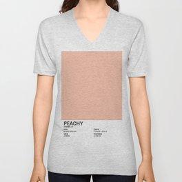 Peachy - Colour Card Unisex V-Neck