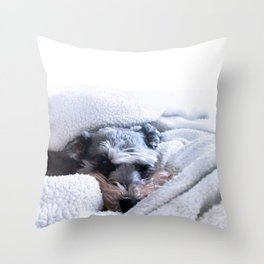 'Namaste Home With My Dog Throw Pillow