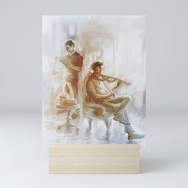 [ 221B ]   sherlock holmes & john watson Mini Art Print