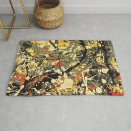 Jackson Pollock, digitally vectorised and filtered, fine art decor and clothing Rug