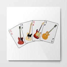 Guitar Hand Metal Print